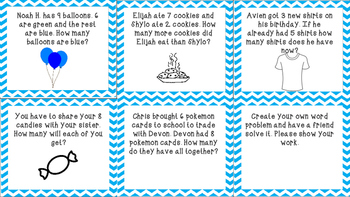Addition and Subtraction Word Problems
