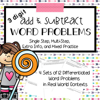 Addition and Subtraction Word Problems 3 digit
