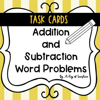 Word Problems {Addition and Subtraction} Task Cards