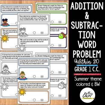 Addition and Subtraction Word Problems [ O001 ]