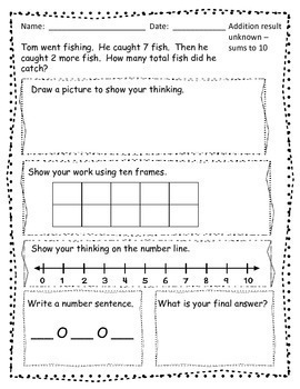 1st Grade Word Problems - Addition and Subtraction ...