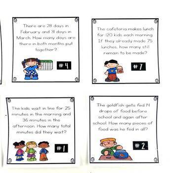 Addition and Subtraction Word Problems August Math Center