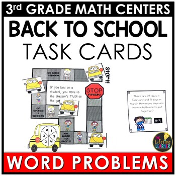 Addition and Subtraction Word Problems Back to School Game
