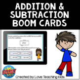 Addition and Subtraction Word Problems Boom Cards Digital