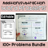 Addition and Subtraction Word Problems Bundle | 1-2 Steps
