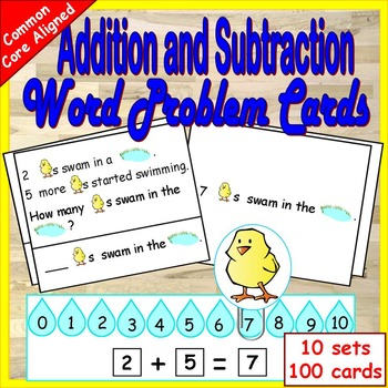 Addition and Subtraction First Grade Word Problems 1st Grade