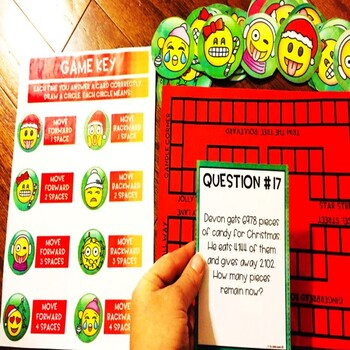 Multi-Step Word Problems Christmas Game
