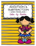 Addition and Subtraction Word Problems Color by Number