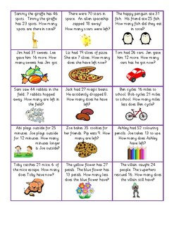 Addition and Subtraction Word Problems (Differentiated!)