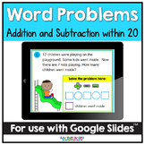 Addition and Subtraction Word Problems Distance Learning |