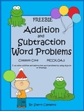 Addition and Subtraction Word Problems FREEBIE