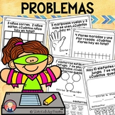 Addition and Subtraction Word Problems IN SPANISH for K-1