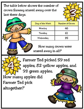 Addition and Subtraction Word Problems (One-Step Only) TEKS 2.4C