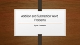 Addition and Subtraction Word Problems Power Point