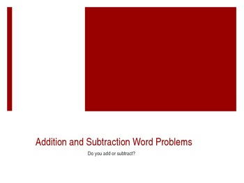 Addition and Subtraction Word Problems PowerPoint 2.OA.1