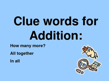 Addition and Subtraction Word Problems Powerpoint