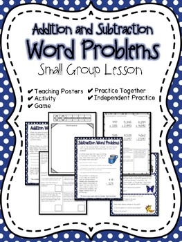 Addition and Subtraction Word Problems Small Group Lesson