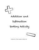 Addition and Subtraction Word Problems - Sorting Activity