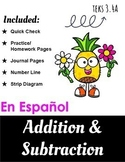 Addition and Subtraction Word Problems - Spanish - TEKS 3.4A