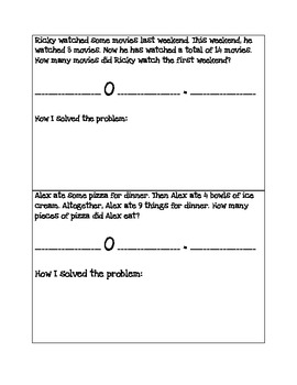 Addition and Subtraction Word Problems: Start Unknown 2.OA.1