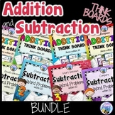 Addition and Subtraction Word Problems Sums Within 20 Bundle