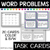 Addition and Subtraction Word Problems Task Cards Math