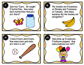 Addition and Subtraction Word Problems {Task Cards & Worksheets}