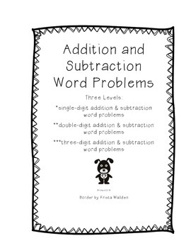Addition and Subtraction Word Problems: Three Levels