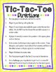 Addition and Subtraction Word Problems Tic-Tac-Toe Game
