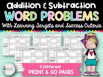 Addition and Subtraction Word Problems (With Learning Target & Success Criteria)