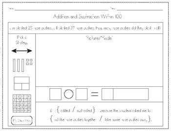 Addition and Subtraction Word Problems (Within 100 and Within 200)