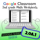 Addition and Subtraction Word Problems Worksheets for Google Classroom™ ⭐ 2.OA.1
