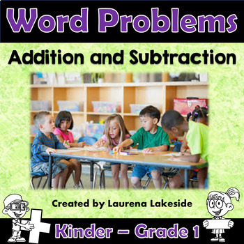 addition and subtraction word problems year 1 kindergarten tpt. Black Bedroom Furniture Sets. Home Design Ideas