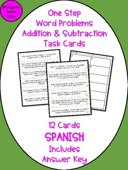 Addition and Subtraction Word Problems in SPANISH