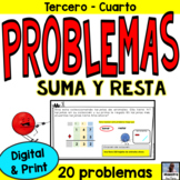 Addition and Subtraction Word Problems in Spanish / Problemas de suma y resta