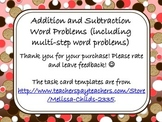 Addition and Subtraction Word Problems (including multi-st
