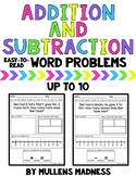 Addition and Subtraction Word Problems (to 10)