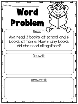 addition and subtraction word problems to 10 kindergarten worksheets. Black Bedroom Furniture Sets. Home Design Ideas