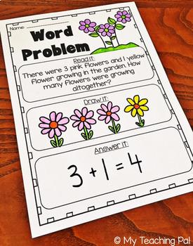 addition and subtraction word problems to 10 kindergarten worksheets. Black Bedroom Furniture Sets. Home Design Ideas