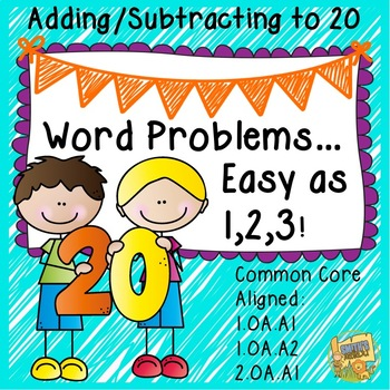 Addition and Subtraction Word Problems to 20 - 1.OA.A1, 1.