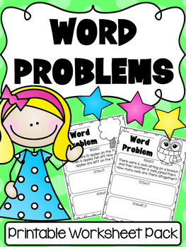 Addition and Subtraction Word Problems to 20 - First Grade Worksheets