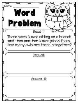 and Subtraction Word Problems to 20 - First Grade Worksheets