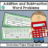 Addition and Subtraction Word Problems using Tape Diagrams