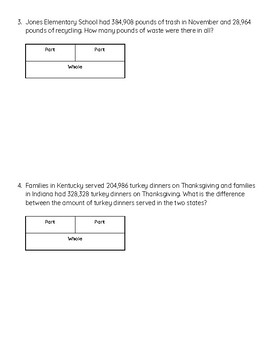Addition and Subtraction Word Problems with Graphic Organizer