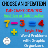 Addition and Subtraction SINGLE STEP Word Problems with Graphic Organizers