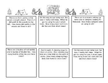 Addition and Subtraction Word Problems with a Camping Theme
