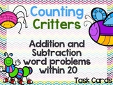 Addition and Subtraction Word Problems within 20 - Task Cards