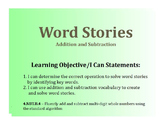 Addition and Subtraction Word Stories