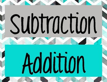 Addition and Subtraction Words