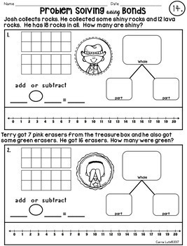 Story Problems ~ Addition and Subtraction Workbook